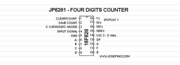 16F628-JP6281-FOUR DIGITS COUNTER