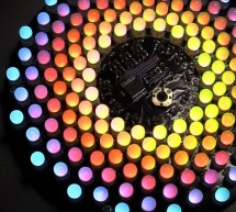 Aurora 9×18 RGB LED art using PIC24F08KA101 microcontroller