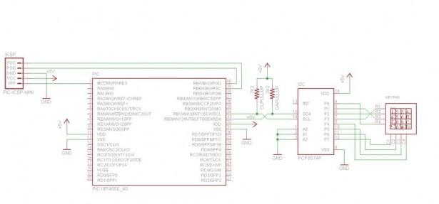 I2C keypad Schematic