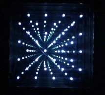 8×8 LED Array Multiplexed Infinity Mirror using PIC18F1320 microcontroller