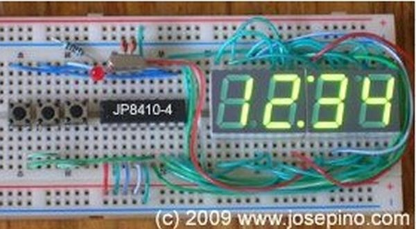 LED Clock with display control