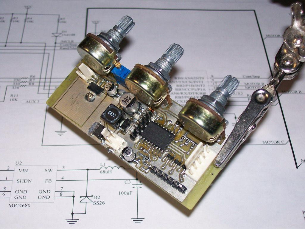 Laser show circuit