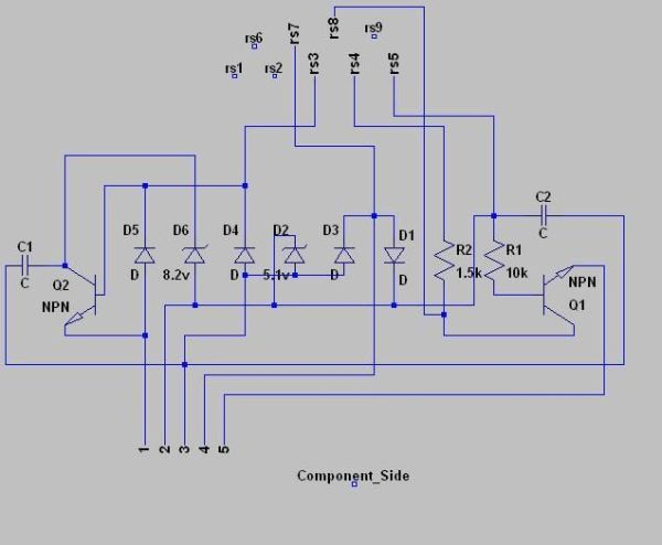 Minty JDM PIC Programmer Schematic
