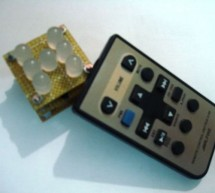 Remote controlled led dice using PIC12F629 microcontroller