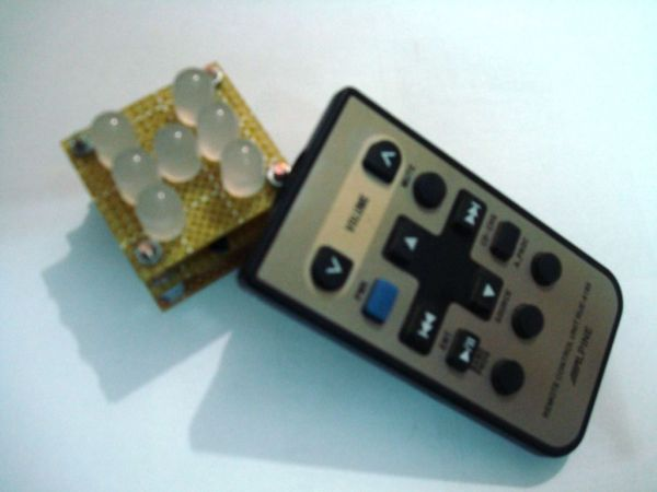 Remote Led dice