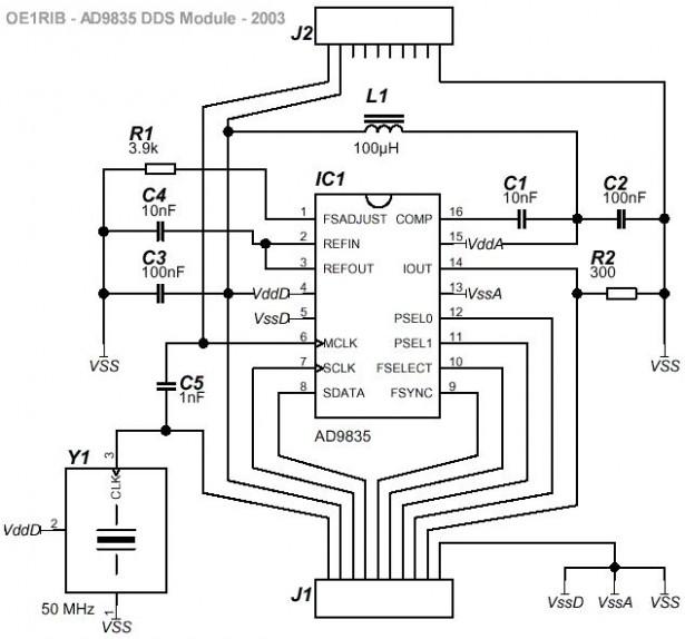 Schematic DDS Module