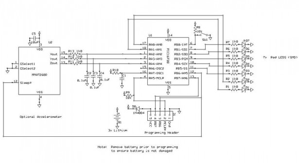 Schematic LED Name Badge