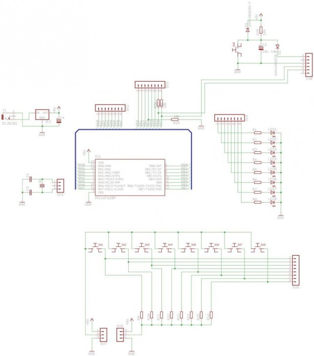 Schematic PIC Development Board