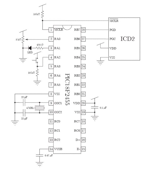 Schematic PIC Microcontroller