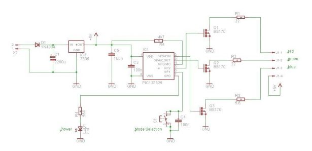 Schematic PIC RGB Power Board