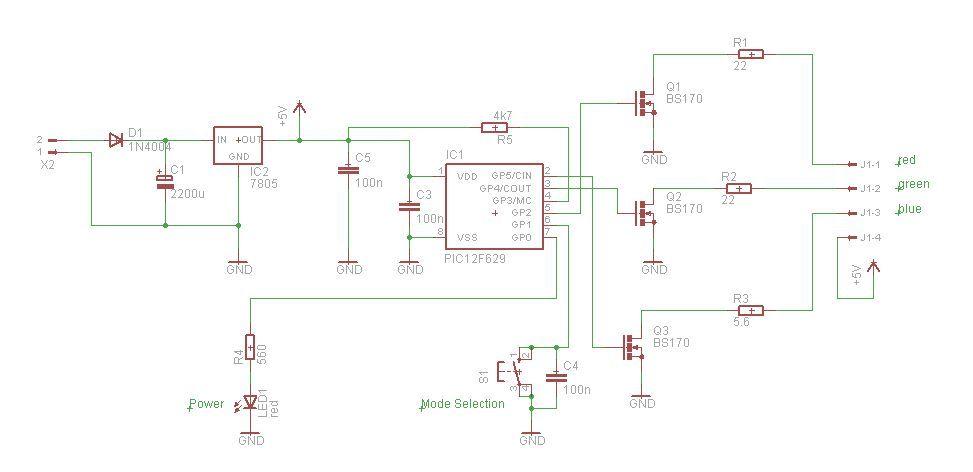 Schematic PIC RGB Power Board
