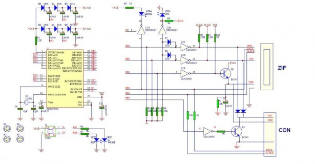 Schematic USB PIC PROGRAMMER