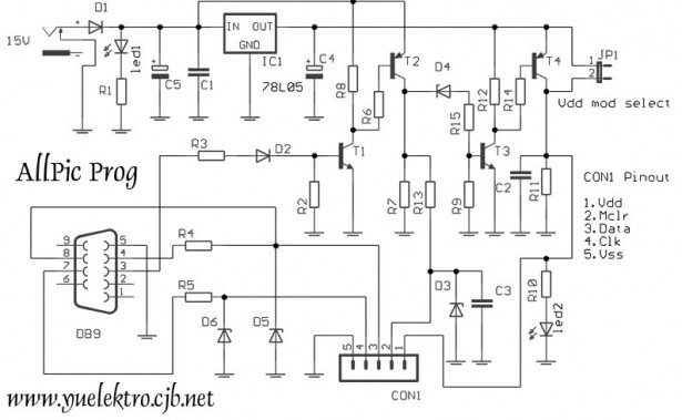 Schematic of All PIC PROGRAMMER