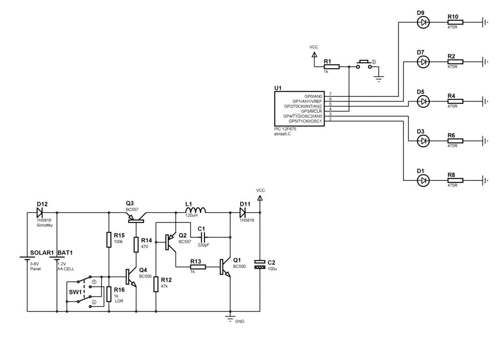 Schematic of LED Message System