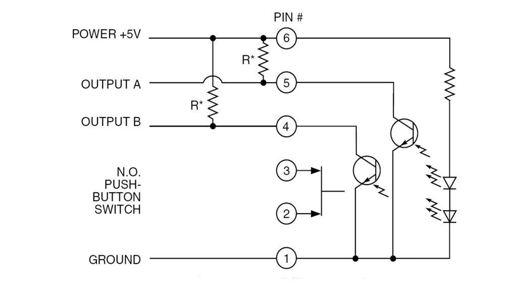 Schematic rotary switch