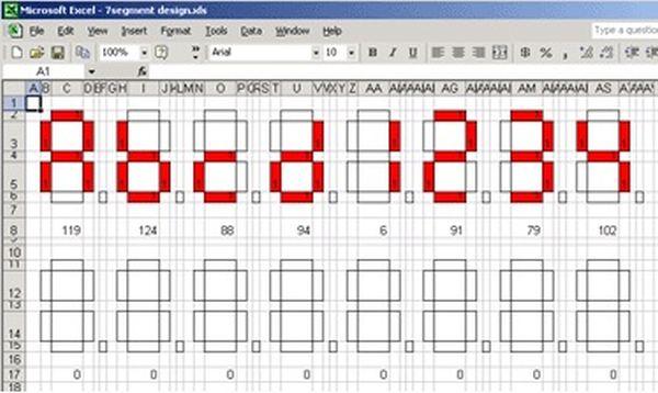 Segment ASCII character Set