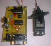 Serial Port Servo Controller using PIC16F84