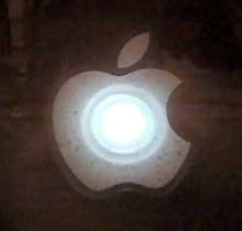 Throbbing Apple Logo Sticker