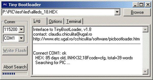 Tiny PIC bootloader