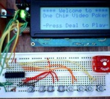 One Chip Video Poker using PIC16F628 microcontroller
