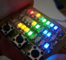 Microdot – wrist watch LED pattern timepiece using PIC16F8 microcontroller