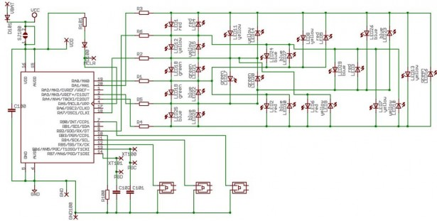 wrist watch LED pattern timepiece schematics