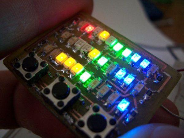 wrist watch LED pattern timepiece
