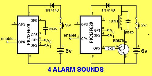 4 ALARM SOUNDS