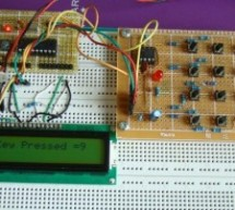 2-Wire Keypad Interface Using a 555 Timer using PIC16F628A