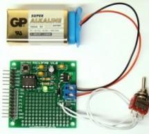 Mini project board for PIC12F series microcontrollers