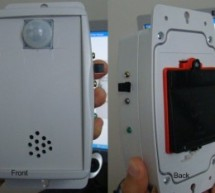 Motion detection alarm using a PIR sensor module with a PIC12F635