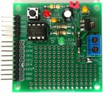 Revised version of the PIC12F microcontrollers breakout board