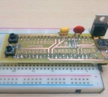 PICMAN prototyping board using PIC18LF4553