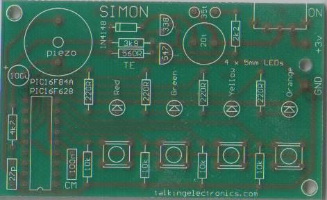 Simon PCB