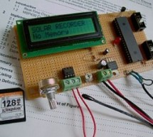 pic18f458 Microcontroller based Solar Recorder