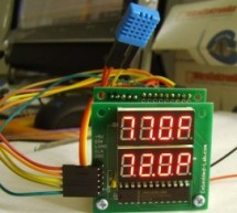 Temperature and relative humidity display with adaptive brightness control using PIC12F683