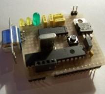 Breadboard using dsPIC30F2012 microcontroller