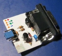 Simple RS232 to logic level converter for PIC microcontroller