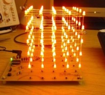5 LED CUBE Controller for PIC16F688