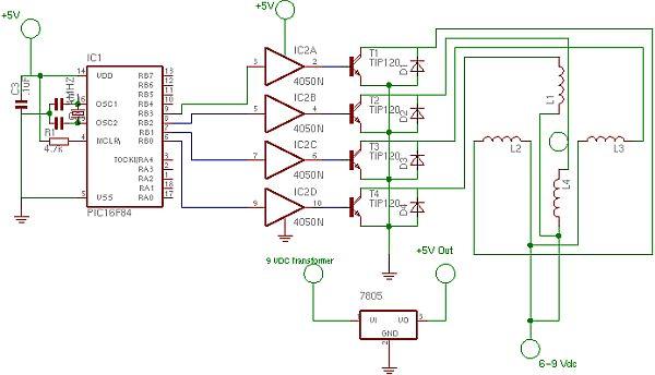 Stepper Motor Controller Using Pic16f628a