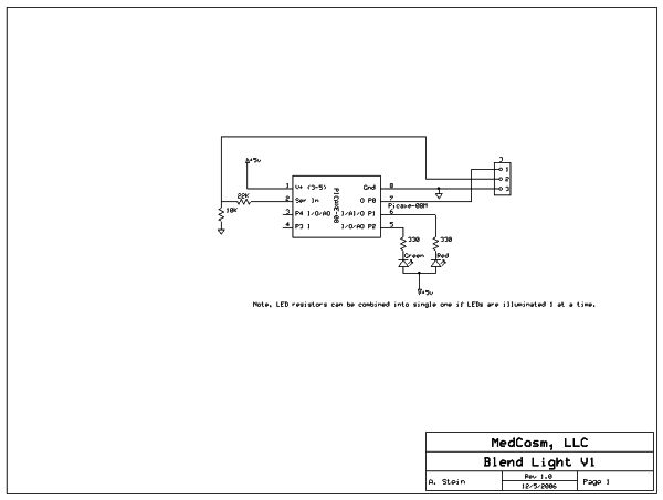 schematic picaxe blendlight led