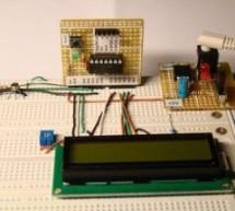 A Digital temperature meter using an LM35 temperature sensor using PIC16F688