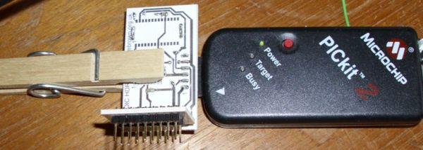 PICKit 2 ICSP programmer
