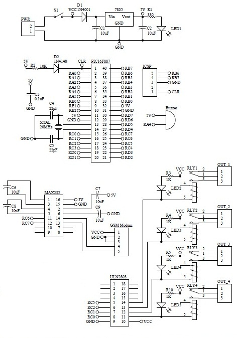 Schematic GSM Remote