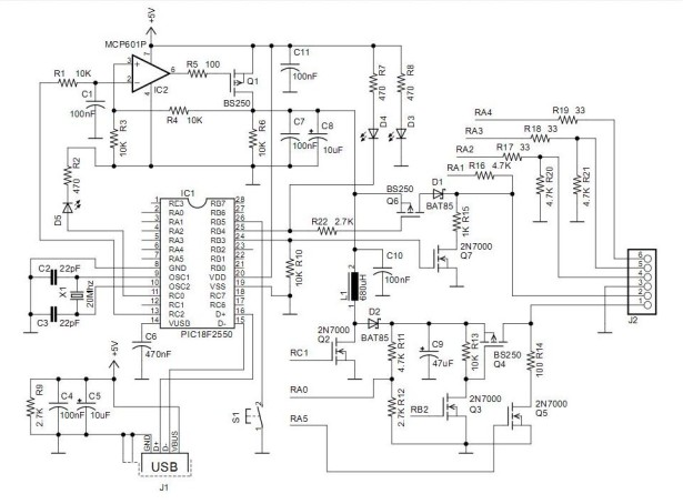 Schematic PICkit 2