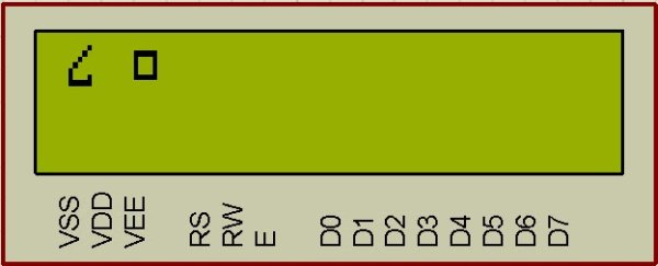 Display custom characters on LCD using PIC16F84A