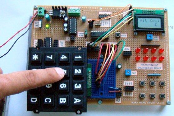 Interfacing keypad with PIC16F877