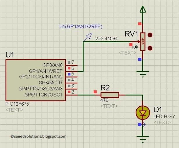 PIC12F675 Comparator schematic