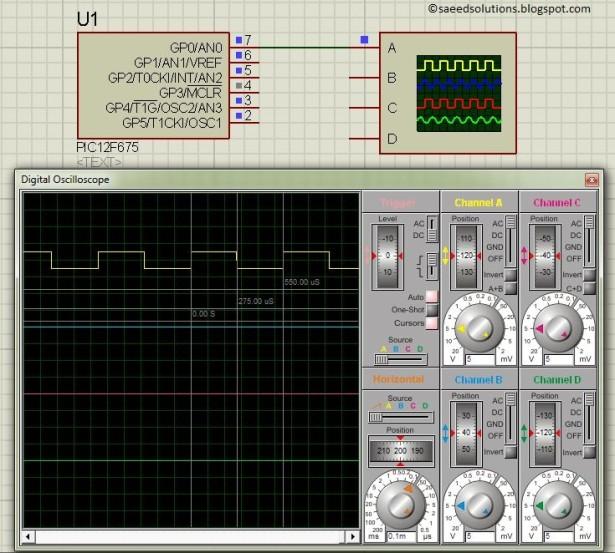 PIC12F675 PWM schematic