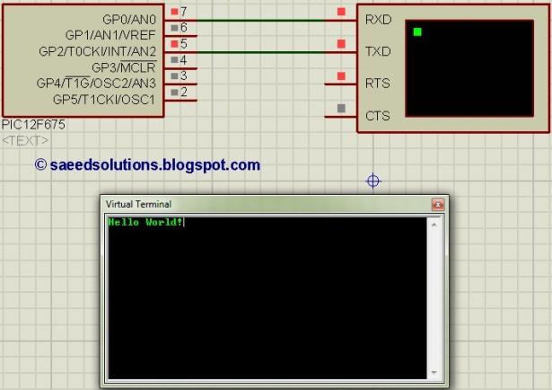 PIC12F675 interrupt based software UART